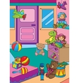 Of Different Toys In Shop vector image