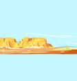 panorama desert canyon vector image