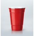 Red Party Cup vector image