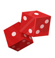 rolling dice pair flat isolated vector image vector image