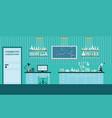 science lab interior or laboratory room vector image vector image