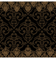 seamless baroque damask luxury border vector image