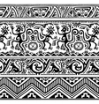Seamless pattern of African primitive art vector image vector image