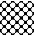 seamless polka dot pattern white dots on black vector image vector image