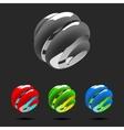 set abstract globe logo elements vector image vector image