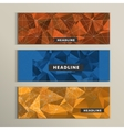 Set of 3 banners with contemporary style polygonal vector image