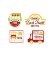 set of colorful logo templates for food vector image vector image