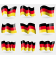 Set of GermanyNew flags in the air vector image