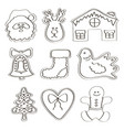 set of gingerbread cookies vector image vector image