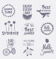 set summer vector image vector image
