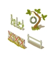 Sheds And Tree Simplified Cute vector image