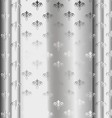 Silver Luxury Vintage Wallpaper vector image vector image