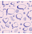 Speech bubbles skech pattern vector image vector image
