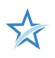 star design flat logo icon stock vector image vector image