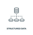 structured data outline icon thin line style from vector image vector image