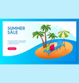 summer sale concept 01 vector image vector image