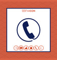 telephone handset surrounded by a telephone cord - vector image vector image