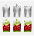 tomato ketchup pack mockup set realistic vector image vector image