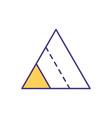 triangle segments rgb color icon vector image