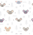 tribal seamless pattern with cartoon mouses vector image vector image