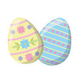 two decorative easter vector image vector image