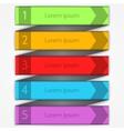 Modern arrow infographics elements vector image