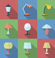 Icon set of Lamps Modern Flat style vector image