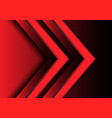 abstract red light arrow direction 3d design vector image vector image