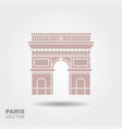 arc de triomphe paris france travel paris icon vector image vector image