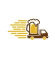 beer delivery logo icon design vector image vector image