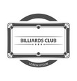 billiard game with text logo vector image