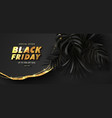 black friday luxury black background with golden vector image