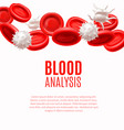 blood analysis concept with blood cells in vector image vector image