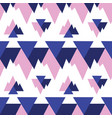 blue pink triangles ikat seamless repeat pattern vector image