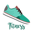 blue shoes with text fitness vector image vector image
