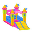 bouncy castle icon jumping toy for leisure vector image vector image