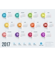 Calendar for 2017 year design stationery vector image