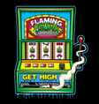 cannabis slot machine abstract poster vector image