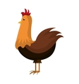 Chicken farm animal cartoon icon vector image
