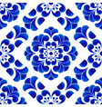 chinese pattern flower vector image