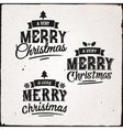 Christmas Set Of Typographic Design vector image vector image