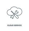 cloud service outline icon thin line style from vector image vector image