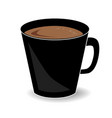 cup of hot chocolate or cocoa drink isolated on vector image vector image
