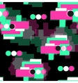 DIgital glitch seamless pattern vector image