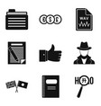 firm document icons set simple style vector image vector image