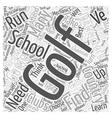 Golf School Word Cloud Concept vector image vector image