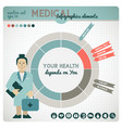 health colored infographic vector image vector image