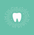 healthy white tooth icon round line circle oral vector image vector image