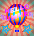 Hello Summer Banner vector image vector image