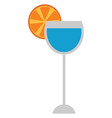 high cocktail in elegant party glassware vector image